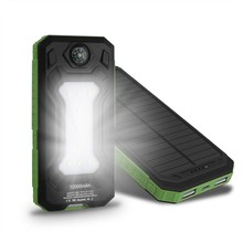 10000mah compass mobile solar charger