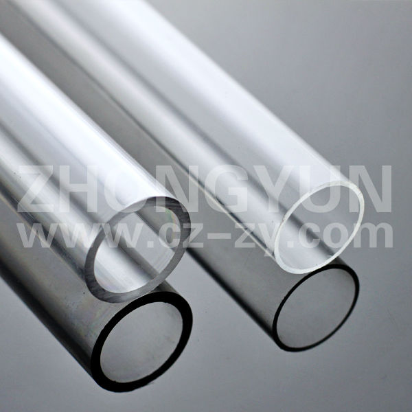 clear extruded light using plexiglass pipe