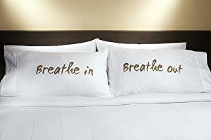 Marriott Hotel Breathe In/Breathe Out Pillowcase Pair
