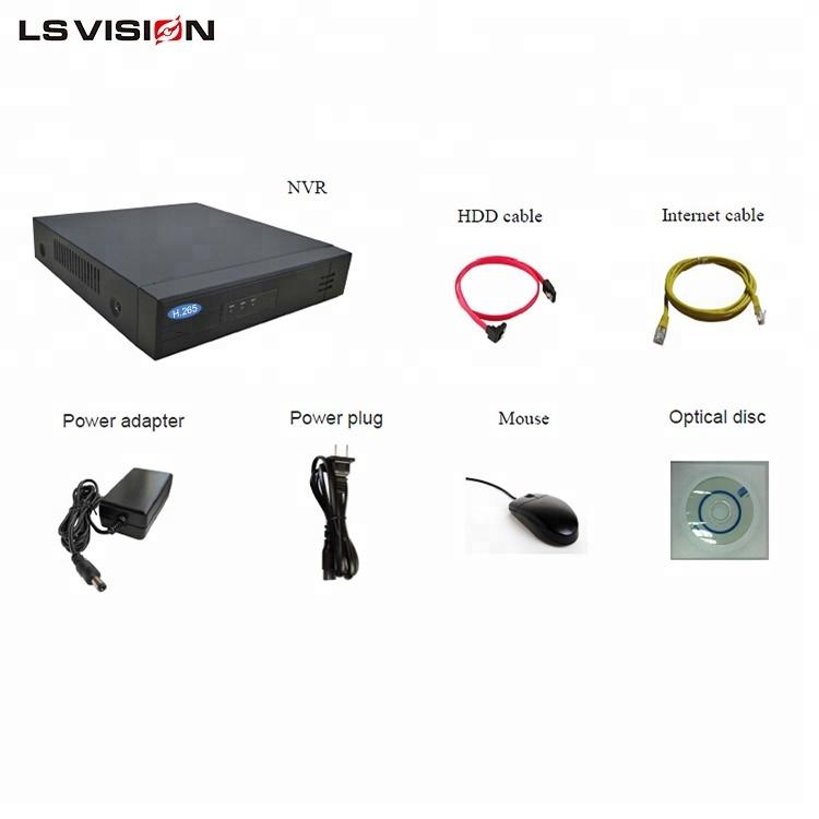 LS VISION Embedded Linux 3MP 5MP 8MP Megapixel IP Camera 8ch POE 4K NVR