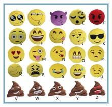 Emoticon Cheap Wholesale Soft Pillow Smiley Face PP Cotton Emoji Pillow Octopus Plush Toy