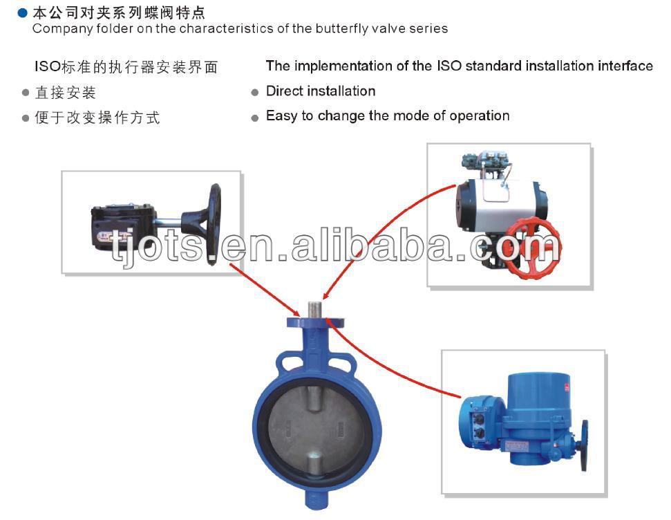 with tamper switch natural gas dn 250 epoxy coating pinless motor operated  lug type butterfly valve