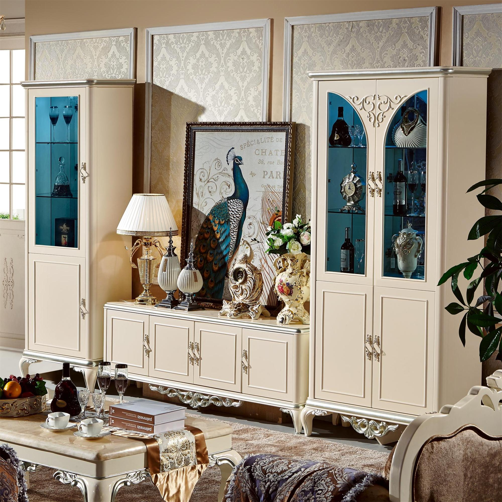 2018 Latest Pearl White Color Tv Wall Units Living Room Furniture - Buy Tv  Wall Units Living Room Furniture,Living Room Furniture Tv Wall Unit ...