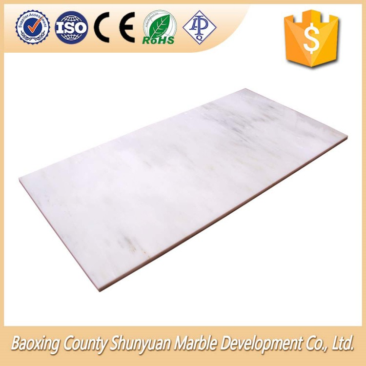 White Color Interior Sample Room Decor Marble Floor Tiles