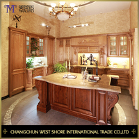 Best Price Antique Style Design All Wood Kitchen Cabinet Imported From China