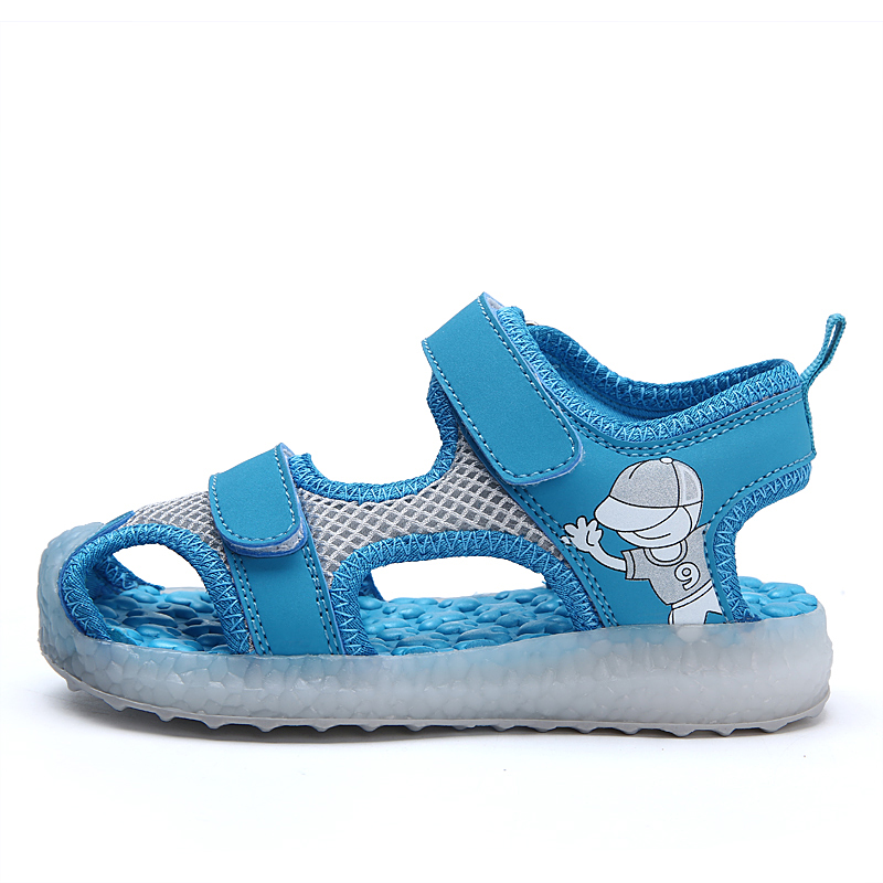 Wholesale Cheap Children fancy kids LED light shoes