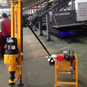 Easy Operation Diesel 7.5kw Foundation Project Drilling Full Pneumatic Soil Sample Hot Selling Electric Motor Dth Drill Rig