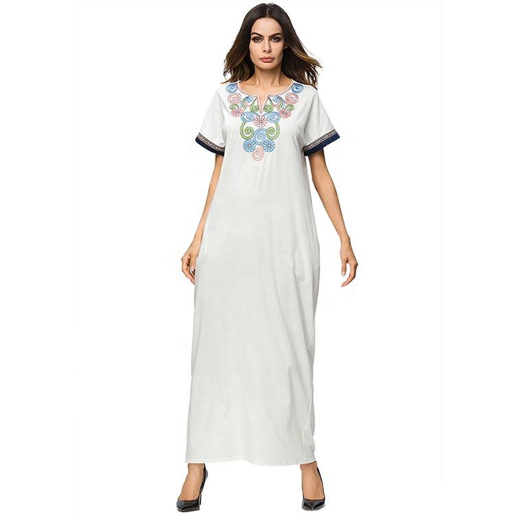 The Hot Selling Ladies Maxi Kaftan Dress in Cotton/Custom Fabric фото