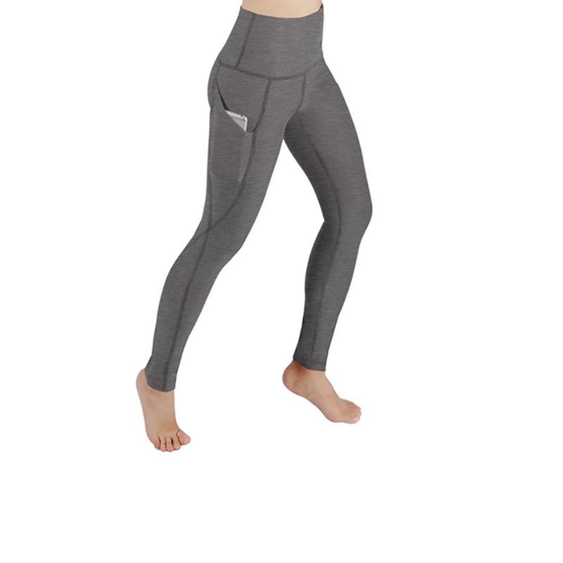 High Waist Out Pocket Printed Yoga Capris Pants Tummy Control Workout Running 4 Way Stretch Yoga Capris Leggings фото