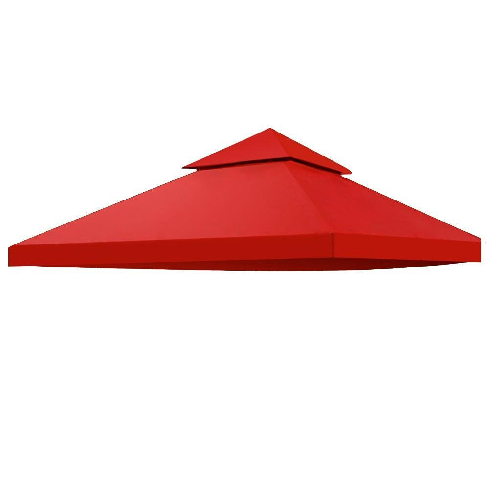 World Pride Durable Double Tier 12'X 12' Red Canopy Cover Gazebo Top Cover---200g Oxford & Good Ventilation & Waterproof & Sun proof