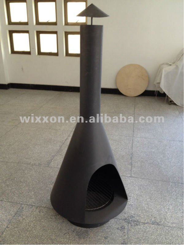 outdoor brazier with chimney