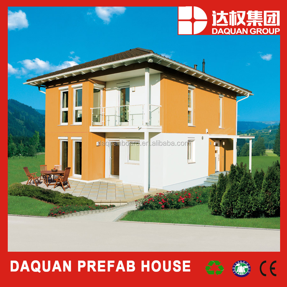 2016 new lightweight EPS cement sandwich wall system green prefab house with CE, BV, code mark & ISO certificate