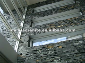 Rectangular Black Exterior Wall Cladding Slate Tile Buy Rectangular Black Slate Tile Wall