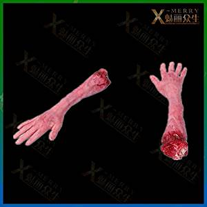 2015 - X-MERRY Haunted house Ghastly Arm Halloween Prop Bloody Body Part Car Trunk Prank Fake Hand