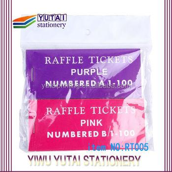 high quality party ticket rollscustom raffle ticket stacks