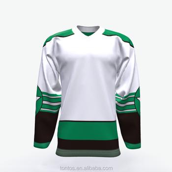 Green And White Cheap Wholesale Blank Hockey Jersey Custom - Buy ... 429184c9501