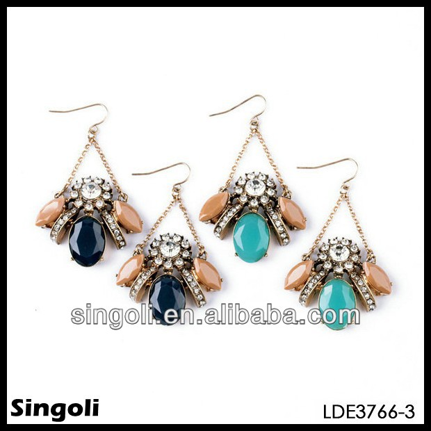 Crew colorful crystal bee shape earring