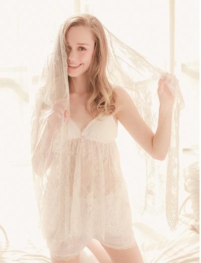 Get Quotations · 2015 Three Piece Lace Pajamas Women Sleepwear Woman Sleep  Shirt Pajamas For Women Camisones De Dormir 8a21e5f58