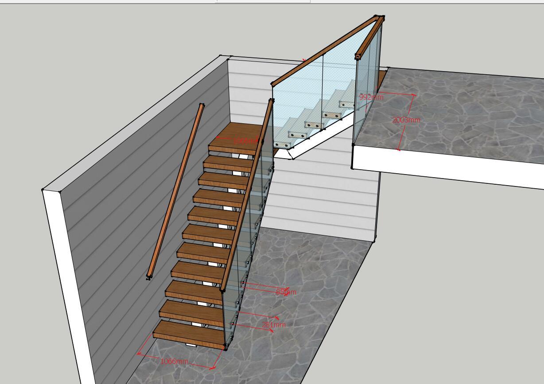 Moderne sécurité marche en bois massif conceptions d'escalier pour escaliers intérieurs