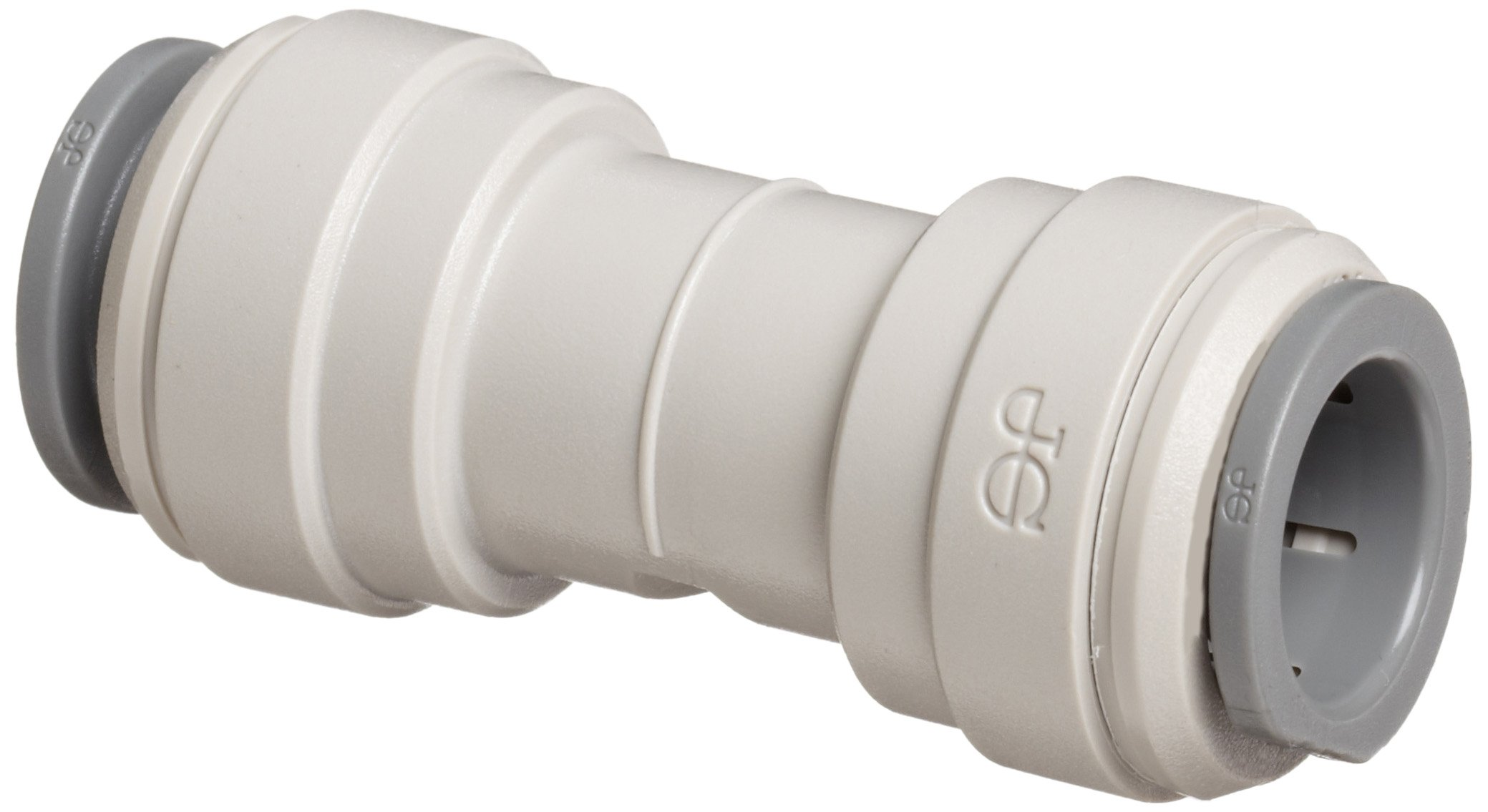 "John Guest Acetal Copolymer Tube Fitting, Union Straight Connector, 1/4"" Tube OD (Pack of 10)"