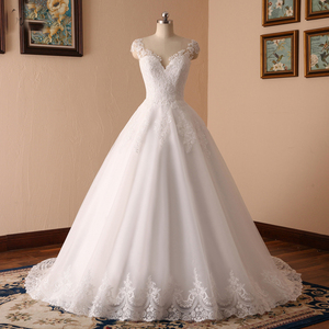 Cheap Ball Gown Lace Applique Wedding Dresses 2018 Under 100 USD