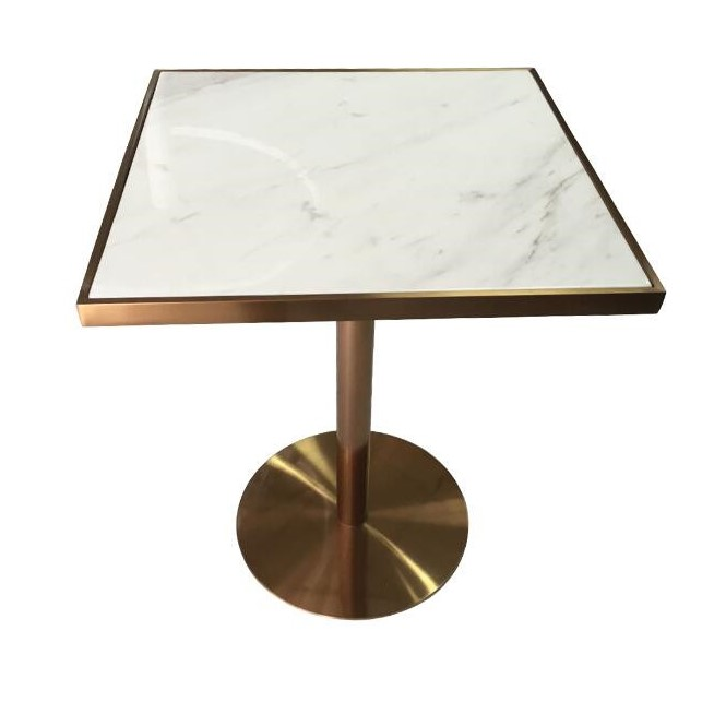Retro Style natural marble square dining room <strong>tables</strong>