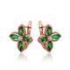 92018 Xuping Fashion Color Women Jewelry Latest Fashion Rose Gold Plated Earring Design