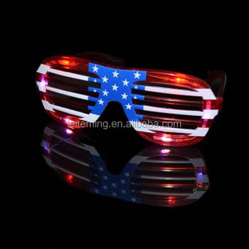274431b3d28 4th Of July Flashing American Flag Led Shutter Glasses - Buy Led ...