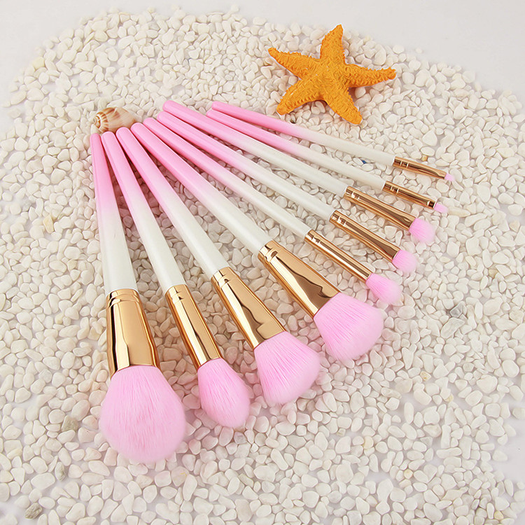 9pcs Pink Hair Wood Handle Makeup Brushes Set Foundation Blending Powder Eye Face Brush Cosmetic Beauty maquillaje