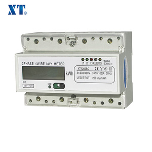 Three phase induction din rail kwh electricity smart energy meter with rs485