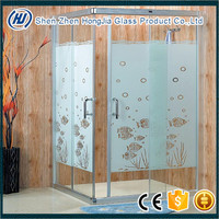 5-19mm standrad tempered glass laminated for bathroom partition