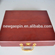 Elegant red golf gifts box with ball and putter