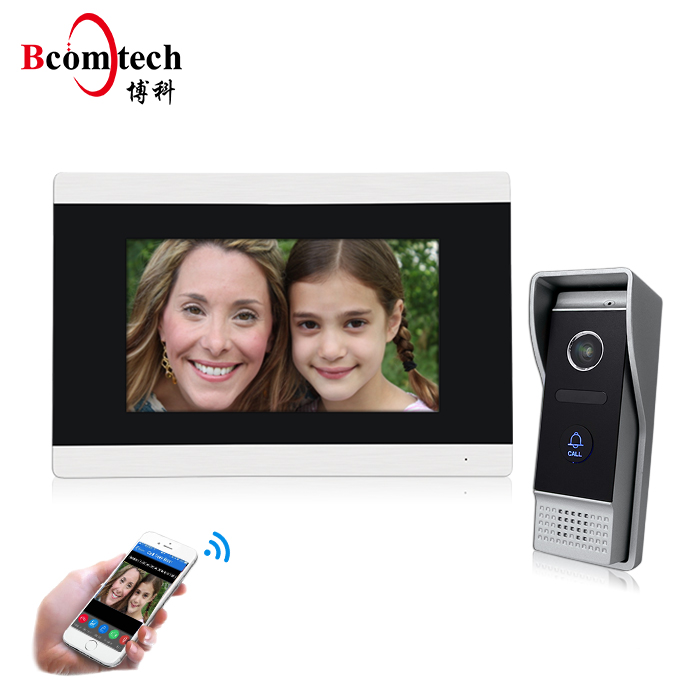 TWEE manier iOs/Android smartphone controle deurbel met wifi camera video intercom systeem genway video intercom