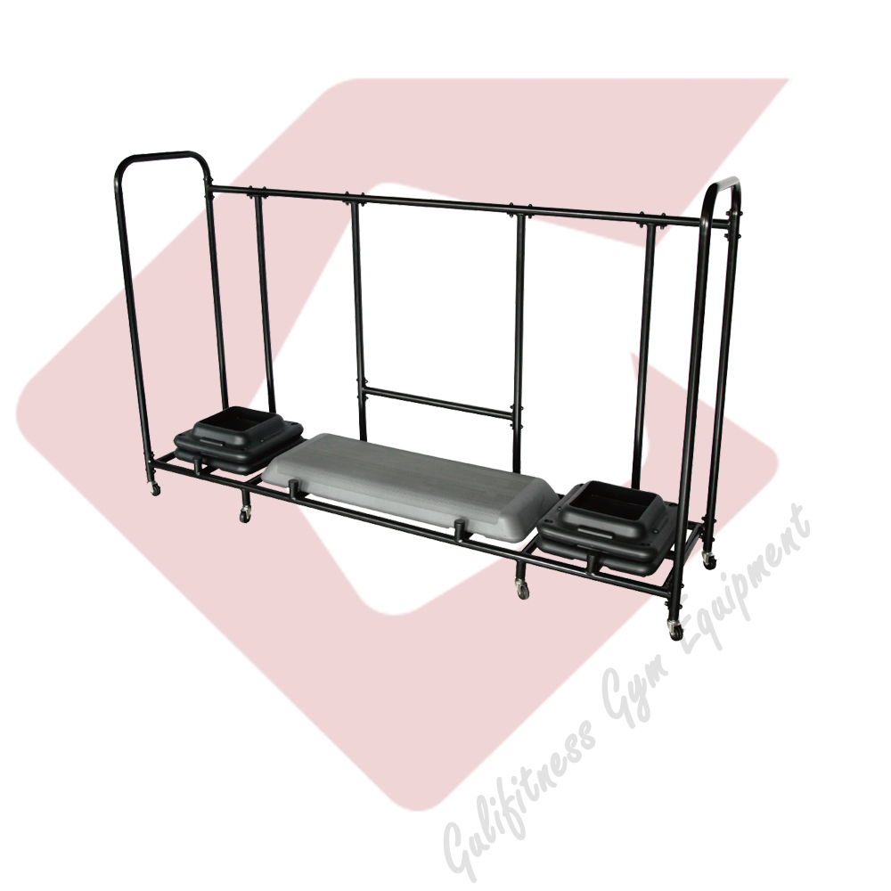Gym Equipment Step/Raiser Cart Rack