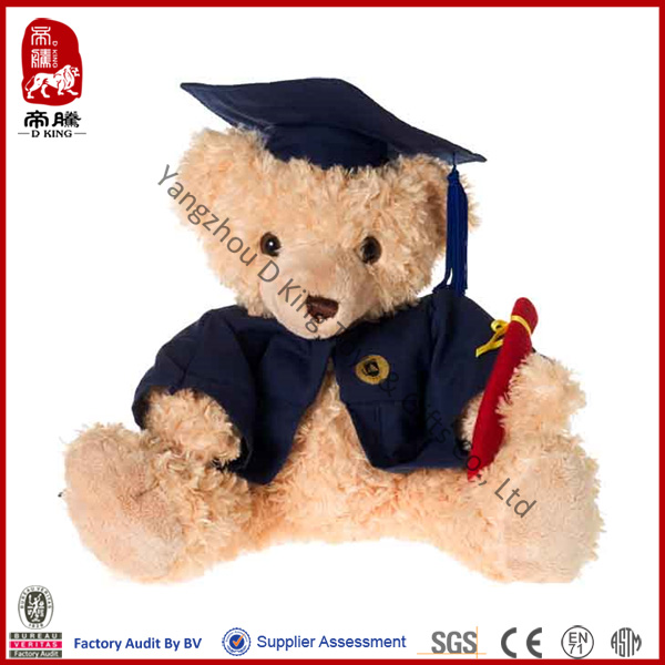 China manufacturer wholesale stuffed plush teddy bear soft toy graduation doll