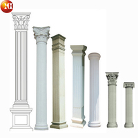 Decorative outdoor marble roman stone column and scuipture with various designs