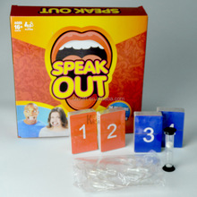 Hot selling Speak out game interesting family board game children card toys in stock
