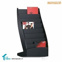 High end Hot sale Multi Tier Acrylic Magazine Display