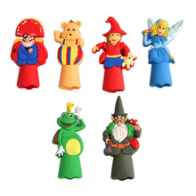 Customize cute cartoon shape puppets finger puppets finger