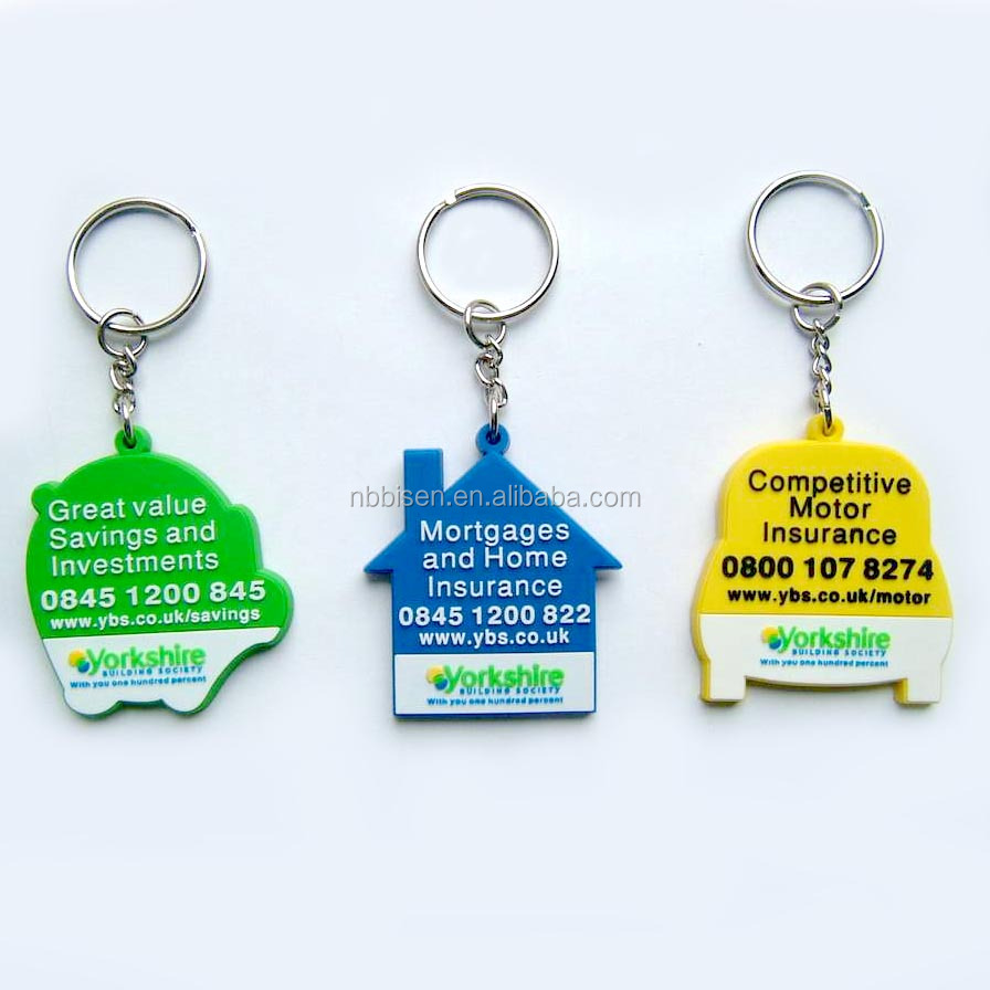 Hot Sale Newest Cheap Flexible Plastic Keychains Personalized Company Advertising Keyrings Custom Design Soft Key-Tags chaveiros