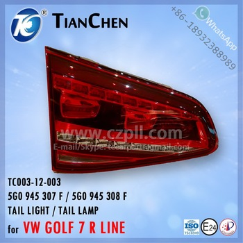 TAIL LIGHT / TAIL LAMP for VW GOLF 7 R LINE 2013 LED 5G0 945 307 F / 5G0 945 308 F - 5G0945307F / 5G0945308F - 5G0945307