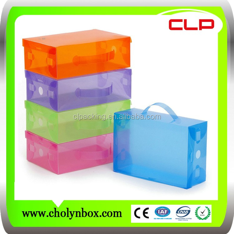 Hard Plastic recyclable retail PP twill shoes box