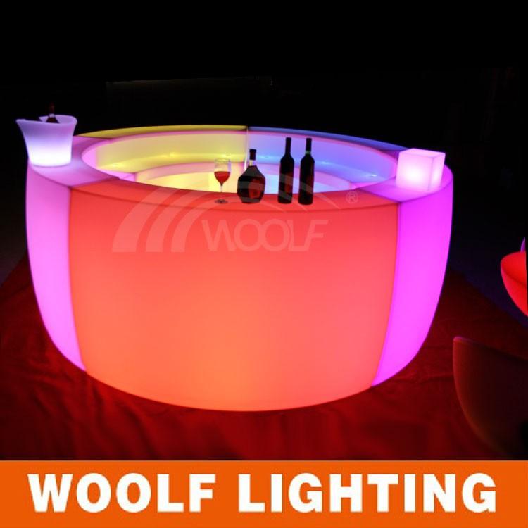 Portable Bar Mobile Table Counter Led Furniture Plastic Gl