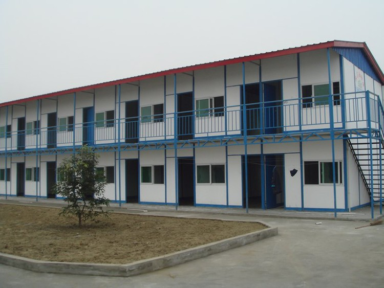 fast-installing two storey labor camp prefabricated house