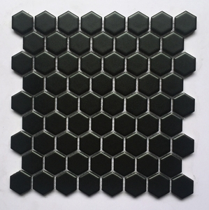 3D Hexagon Tiles Black and White Stone Mosaic Floor and Wall Tiles