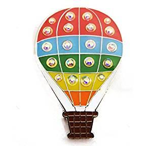 Navika Hot Air Balloon Swarovski Crystal Ball Marker with Magnetic Hat Clip