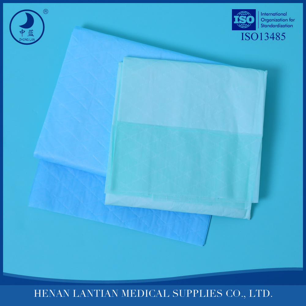 Disposable underpad customized 2 or 3 ply paper/tissue with PE waterproof / leak proof backing incontinent pad