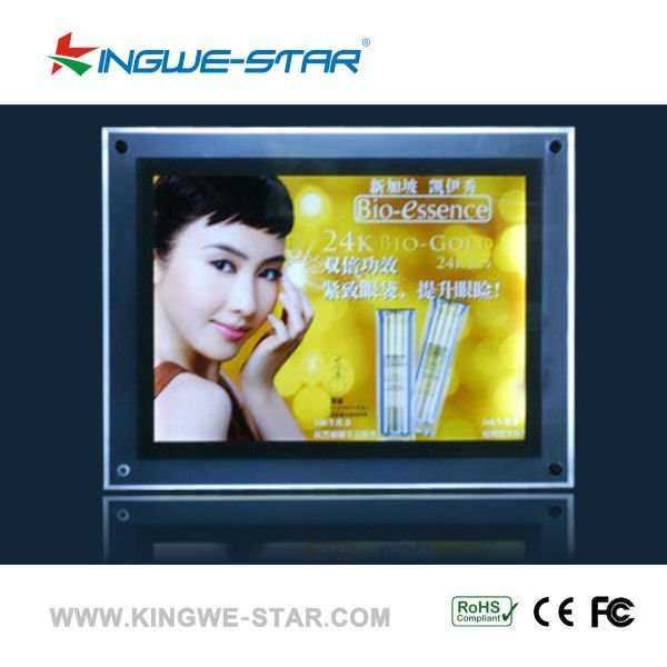 New Crystal A3 acrylic LED lighted movie poster frames