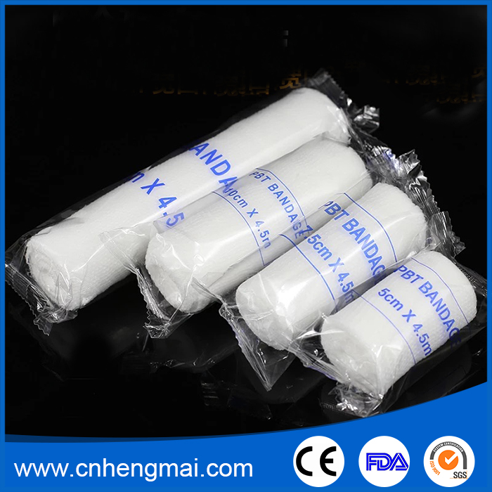Surgical First Aid PBT Conforming Cohesive Bandage with Woven Edge