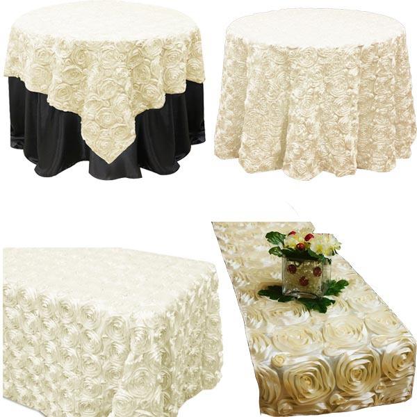Fancy Wedding Table Cloths Tablecloth Decorative Round